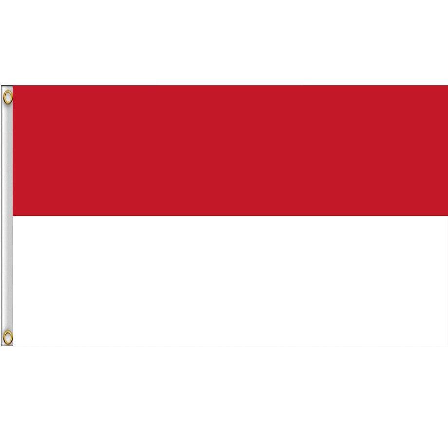 Bandera Nacional de Indonesia, 3x5 pies, 90x150cm, bandera internacional, poliéster 1064, Envío Gratis