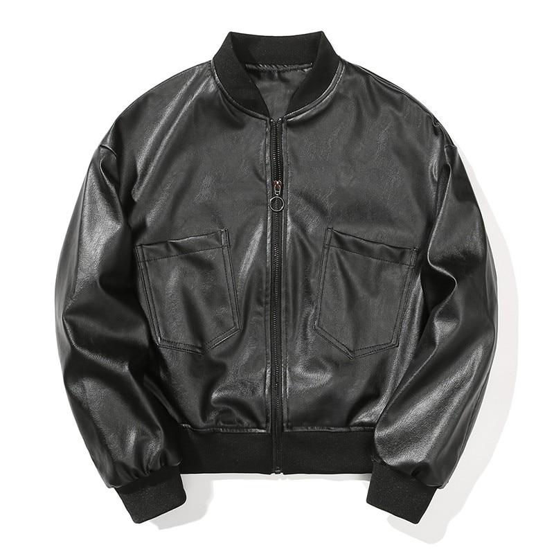 Тонкие женские куртки и пальто из искусственной кожи с длинным рукавом байкерские короткие мотоциклетные куртки больших размеров Свободна...