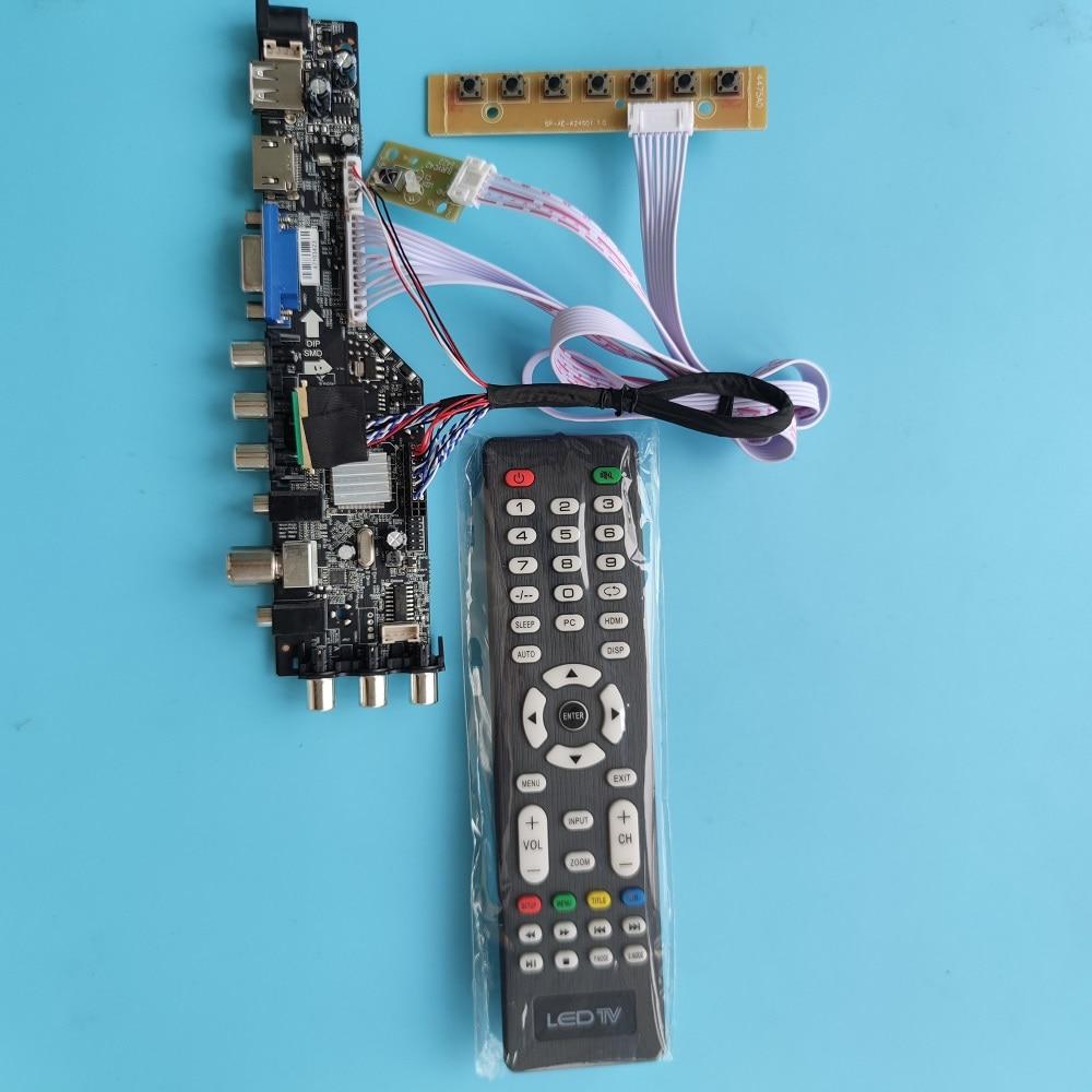 عدة B156XW02 V.0/V.1/V.2 40 دبوس LVDS ترقية AV VGA USB DVB 1366*768 شاشة 3663 TV وحدة تحكم بشاشة إل سي دي رقمية لوحة لتقوم بها بنفسك