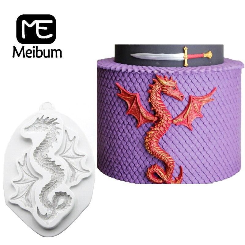 Molde de silicona para pasteles con forma de dragón serpiente, masa para fiestas infantiles, pasta de goma de mascar, arte de azúcar, decoración de postres, herramientas para hornear