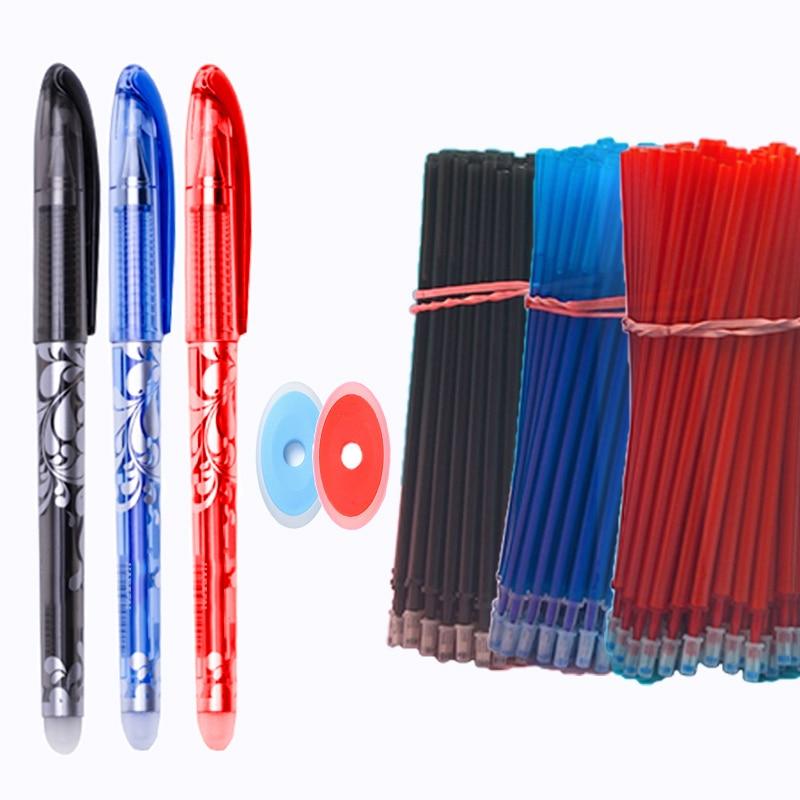 25 шт./компл. Kawaii стирающиеся ручки гелевая ручка Милая гелевая ручка школьные письменные принадлежности для блокнота принадлежности ручка ...