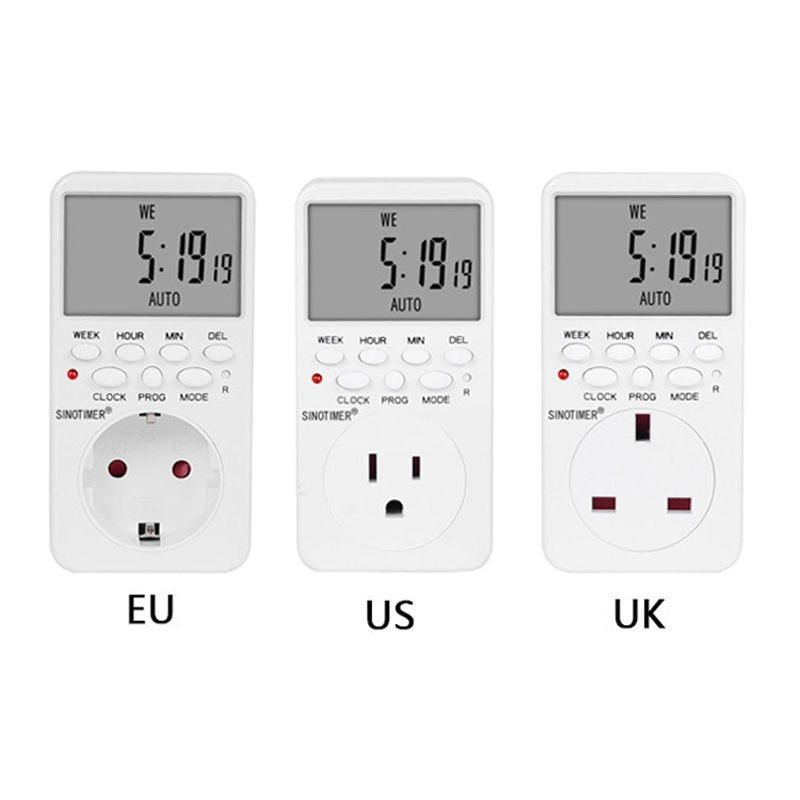 Enchufe UE Reino Unido EE. UU. Toma de temporizador Digital Control de interruptor de relé programable