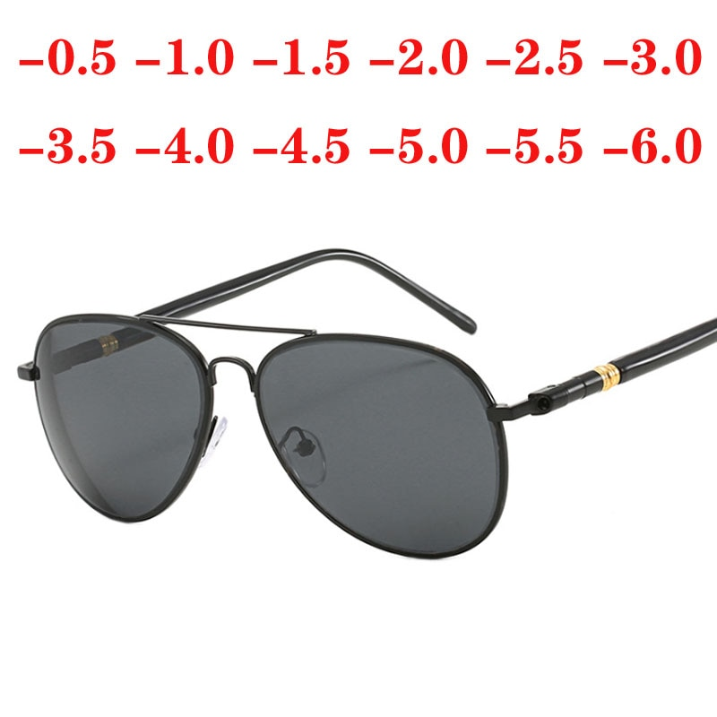Prescription Sunglasses For Nearsighted Diopter -0.5 -1.0 -1.5 to -6.0 Women Men UV400 Myopia Glasse
