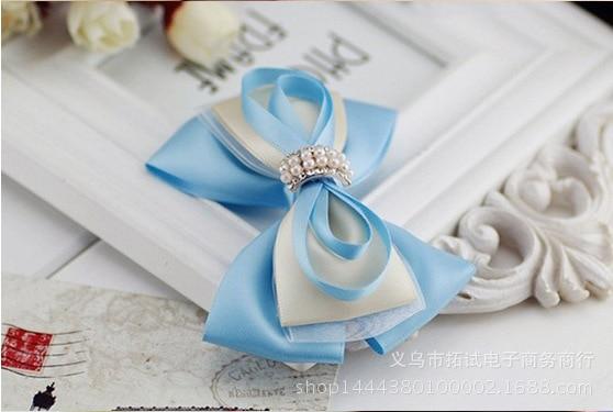 Women's Korean lace big bow hair accessories handmade silk yarn professional bow duckbill clip hair ring spring clip HDJ031