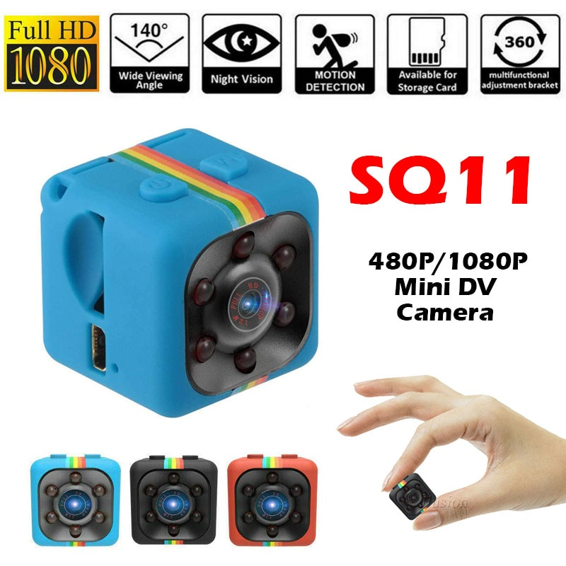 SQ11 480P/1080P Mini cámara Espia Oculta Micro Video cámara Gizli pequeño DV...