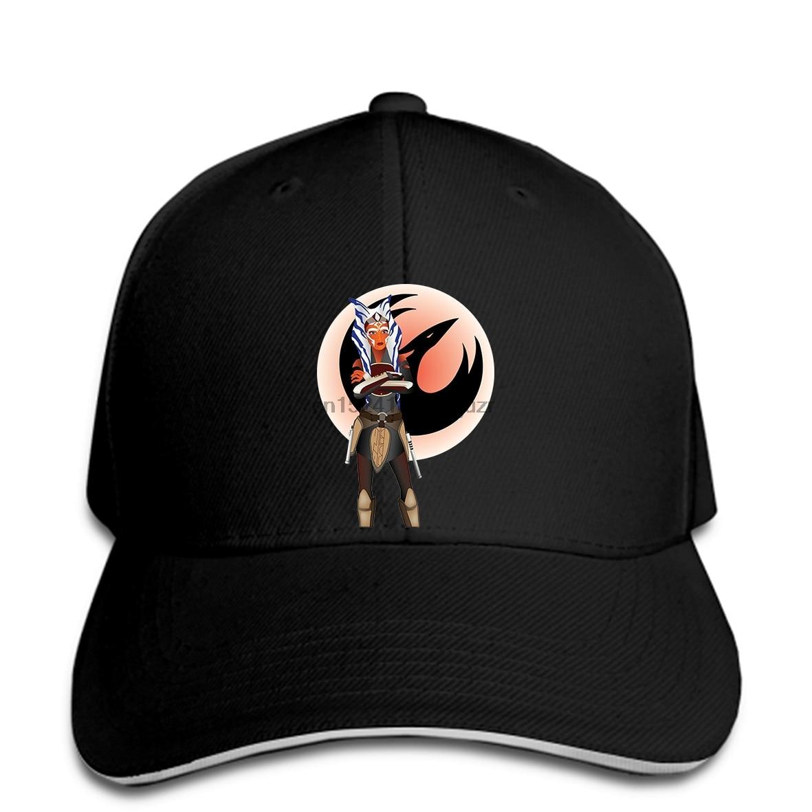 Gorras de béisbol de hip hop, gorras de moda geniales Ahsoka Tano estampados personalizados snapback