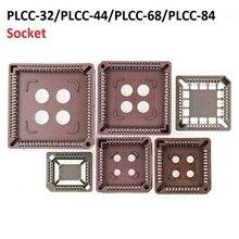 5PCS circuito integrato adattatore IC PRESA di CORRENTE PRESA PLCC-32 PLCC-44 PLCC-68 PLCC-84 base di PROVA PLCC32 PLCC44 PLCC68 PLCC84 A dip SOP SMD