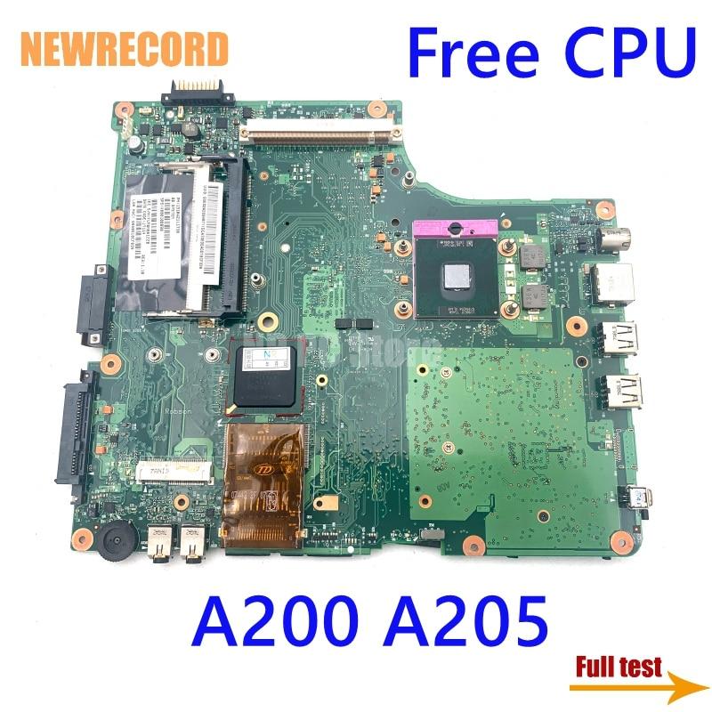 لوحة لابتوب توشيبا من نيوسجل A200 A205 V000108890 6050A2111701-MB-A03 DDR2 مع فتحة وحدة معالجة الرسومات اللوحة الرئيسية وحدة المعالجة المركزية اختبار كامل مجاني