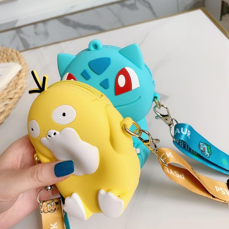 Pokemon Autumn Fashion Bag Pokémon Pikachu Squirtle Eevee Squirtle Model Children's Outdoor Convenient Small Bag Birthday Gift