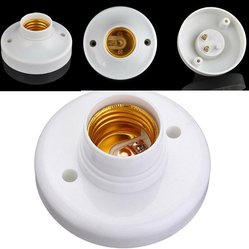 Casquillo de rosca Edison E27 ES, soporte de bombilla, Base de fijación de lámpara blanca