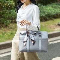 portable briefcases women travel shoulder bags laptop protection handbags office document organizer storage pouch accessories