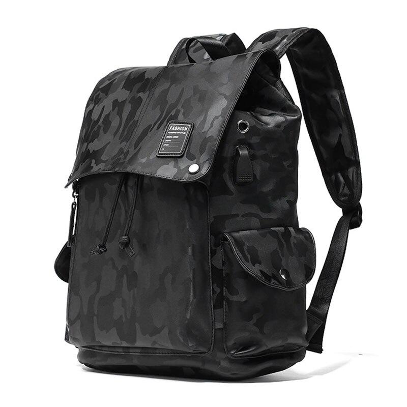 الكورية شعبية التمويه حقيبة السفر الرجال محمول الكتف حقائب الموضة المد كبير بولي Leather جلد الرجال حقيبة مدرسية الظهر