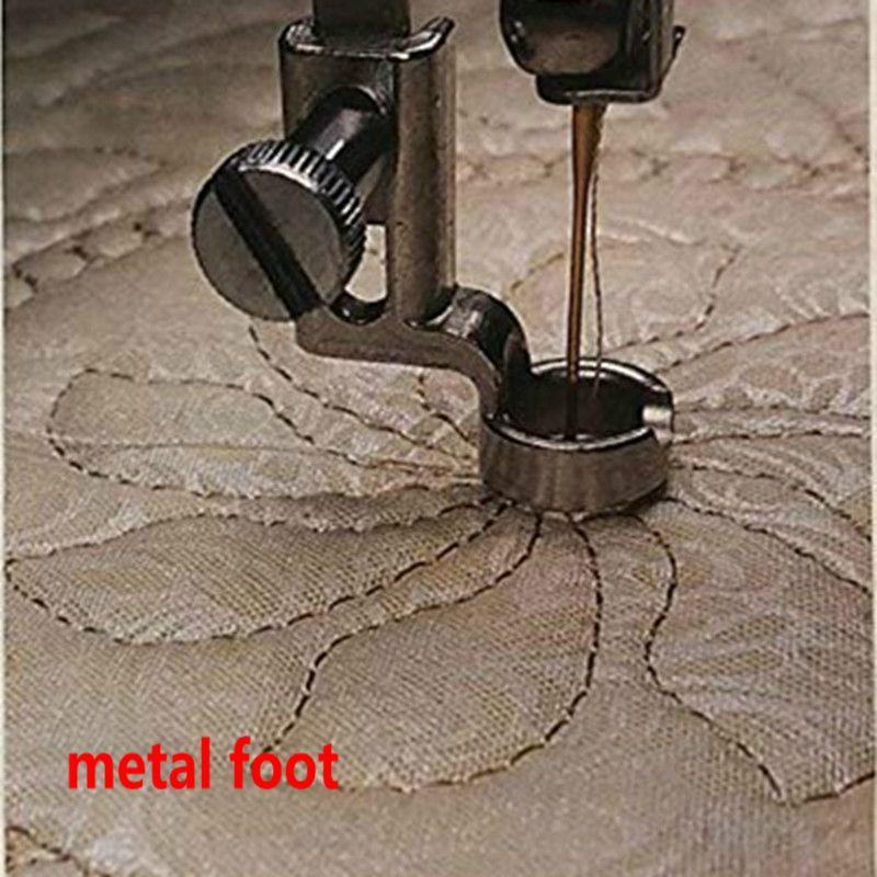 """1/4 """"металлическая линейка рамка для ног стеганая вышивка низкий хвостовик Зингер Пфафф Viking Brother EN-01 и EN-01J"""
