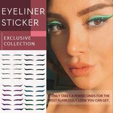 40pcs Eyelid Line Stick Reusable eyeliner stickers Cat Eye Makeup Double Eyelid Sticker Eyeliner Mak