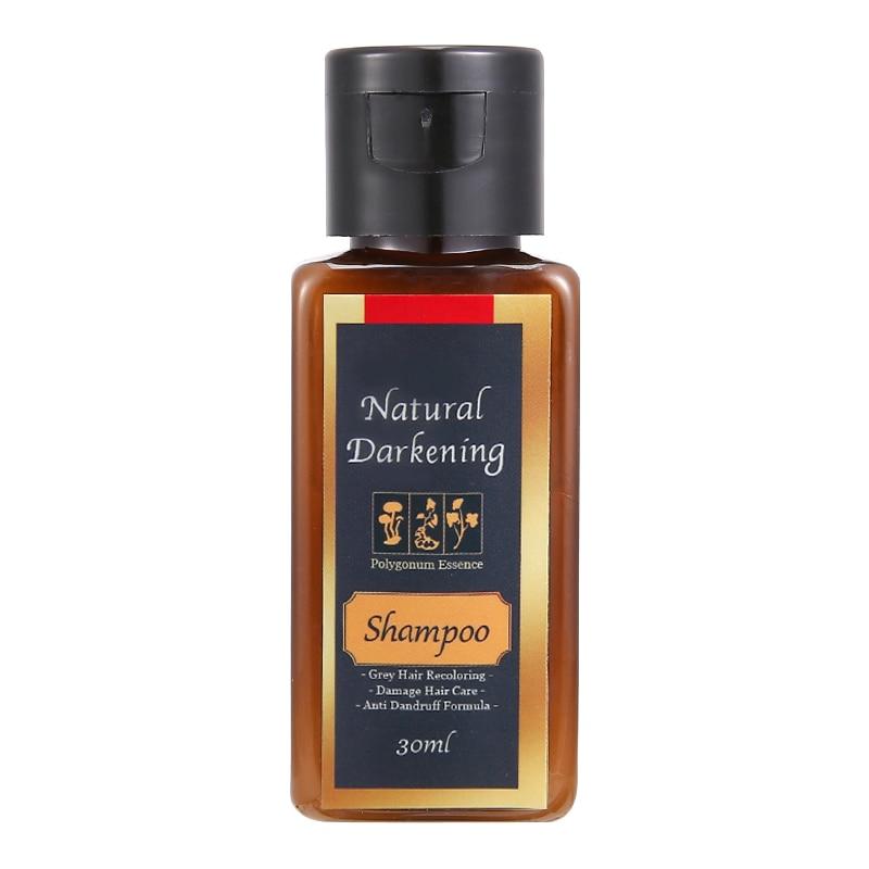 1 ud. Para el cabello de Color gris de champú, champú negro oscurecido Natural, 30/200ml, reparación de daños por caspa para hombres y mujeres