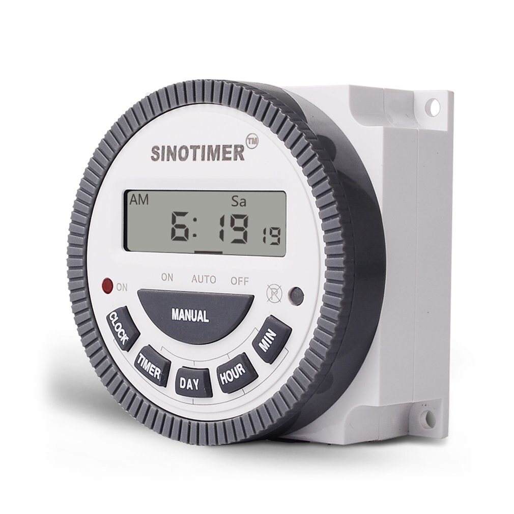 SINOTIMER 220V 10A Digital programable tiempo interruptor relé temporizador ControlWeekly 7 días para aparato eléctrico con reloj despertador