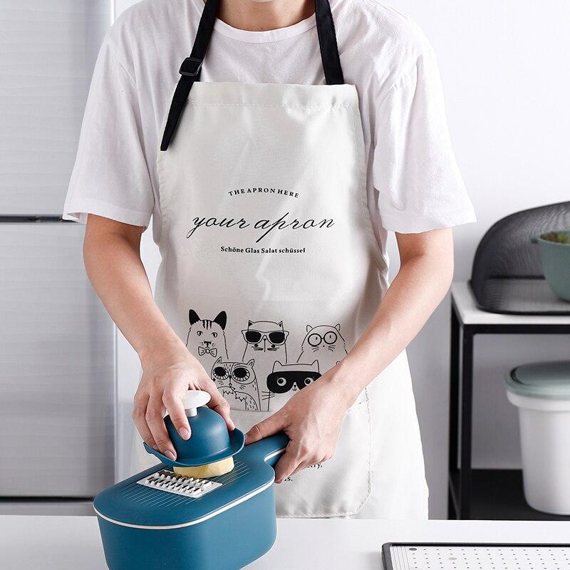 Delantal Profesional de Cocina a prueba de agua, bonito Delantal de lona...