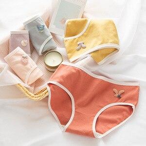 WONTIVE M-XL Womens Soild Morandi Color Cotton Panties For Women Girls Teenagers adolescents Student 95% Cotton Panty Briefs Mid