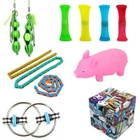 12pcs childrens family stress relief toy set for children with autism and special needs kid toys