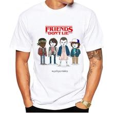 Camisetas de hombre de LUSLOS 90s Vintage Thirts Friends Dont Lie divertidas camisetas de hombre Casual de manga corta Camiseta blanca ropa de hombre 2019