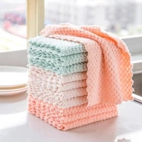 5pcs super absorbent microfiber kitchen dish cloth non stick oil household cleaning wiping towel kichen tool tools gadgets