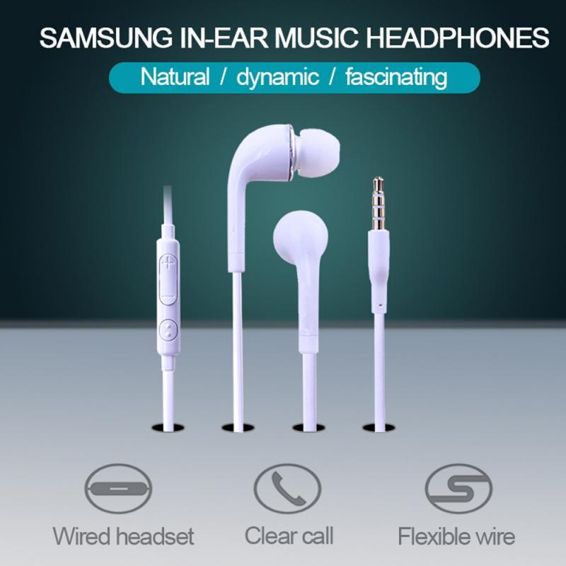 Наушники-вкладыши Samsung Galaxy S6 / S5 / S4 с динамиком управления, проводные наушники 3,5 мм с микрофоном, спортивные наушники-вкладыши