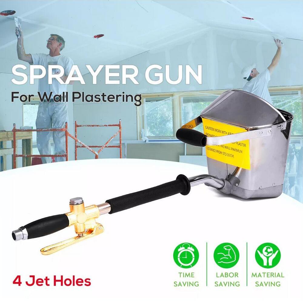 Пистолеты-распылители для цементного раствора, ручной штукатурный распылитель для стен, пневматический цементный раствор, ручной инструме...