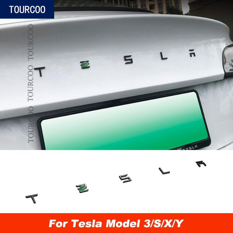 AliExpress - Car Styling ABS Tail Gate Emblem Sticker for Tesla Model 3 S X Car Modification Rear Trunk Decor Letters