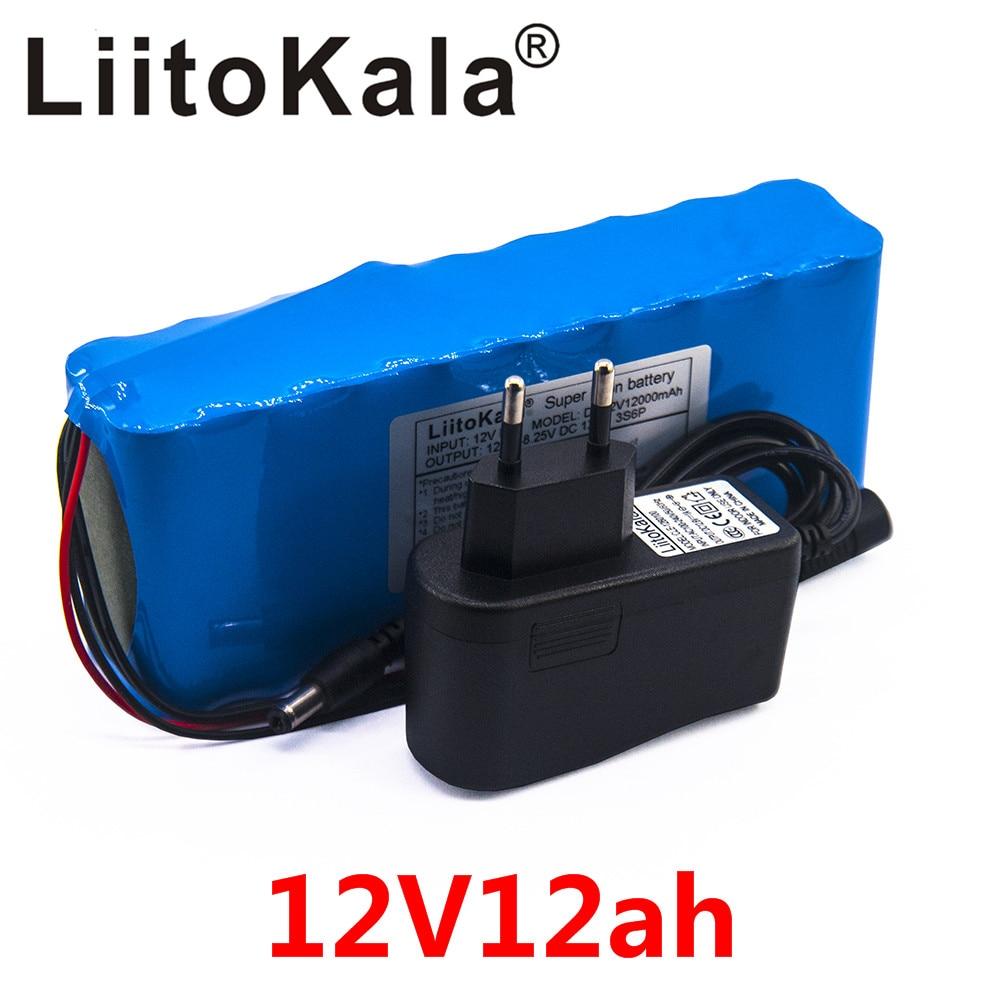 Liitokala-بطارية كاميرا ليثيوم أيون قابلة لإعادة الشحن ، حزمة بطارية الكاميرا 12 فولت 12 أمبير ، شاحن وشاحن