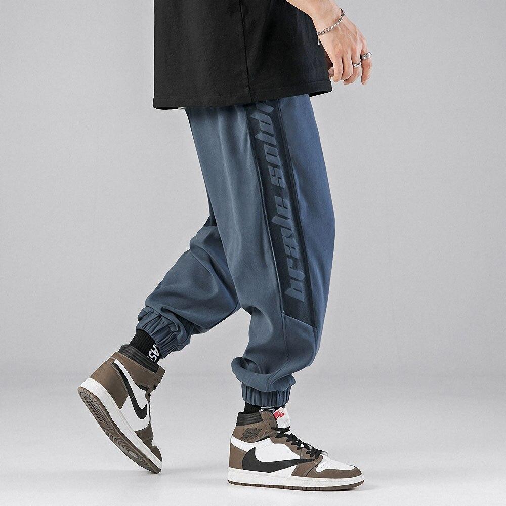 Брюки мужские спортивные в стиле хип-хоп, повседневные спортивные штаны, брендовые джоггеры, модная уличная одежда, свободные шаровары для ...