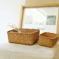 weaving storage basket rattan fruit storage box handmade tea holder