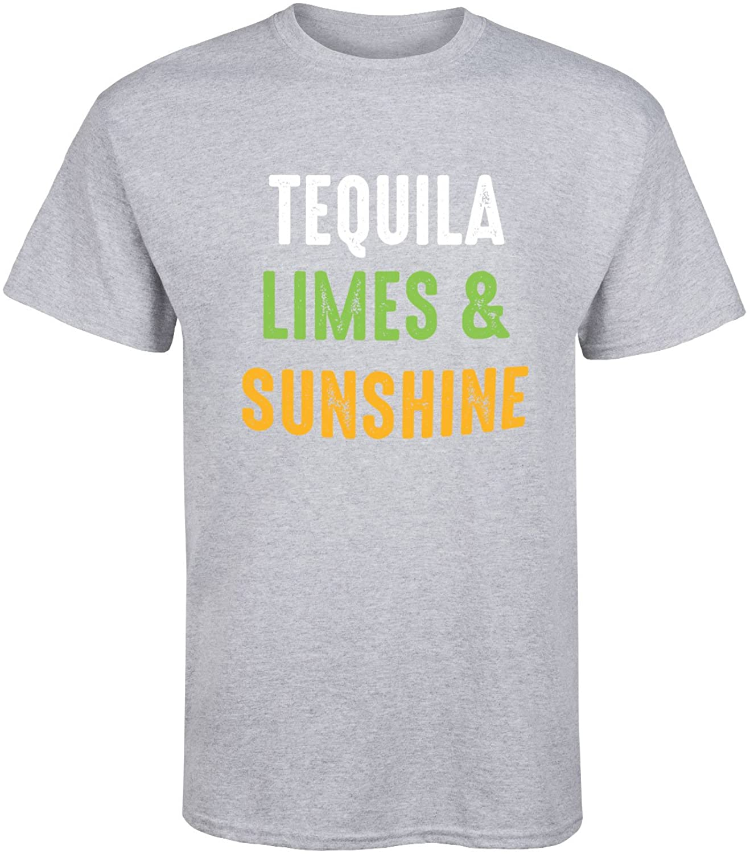 Tequila Limes y Sunshine gráfica-Camiseta de manga corta para hombre, camiseta fresca de verano, camiseta transpirable 2020 totalmente de algodón