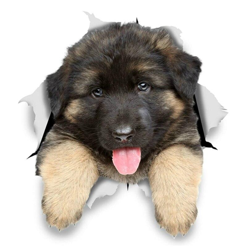 Автомобильная наклейка собака немецкий овчаг щенок автомобильные мотоциклы внешние аксессуары PCV наклейки, 15 см * 15 см