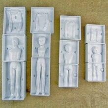 Fondant 3D People Cake Figure Mold Family Set Human Body Decorating Mould for Creating Men Women Children Girl Boy