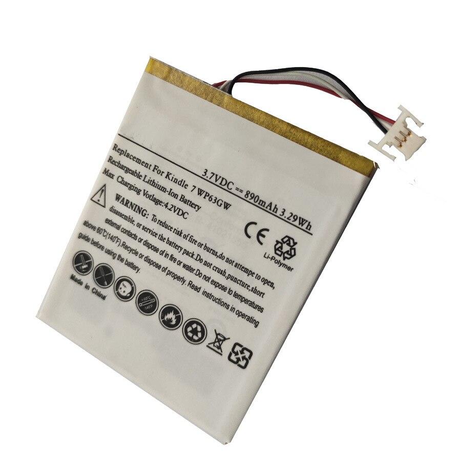 TTVXO batería de 890mAh para Amazon Kindle 7 WP63GW Kindle 8 SY69JL Kindle 499 Kindle 588,58-000151,58-000083 MC-265360-03 265