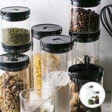 Organizador de almacenamiento para el hogar, herramientas de almacenamiento para cocina, tarros de vidrio para granos de café, caja apilable, latas de té, latas selladas de estilo europeo