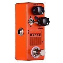 Mosky D250X Mini Overdrive Preamp gitar efekt Pedal gerçek Bypass anahtarı
