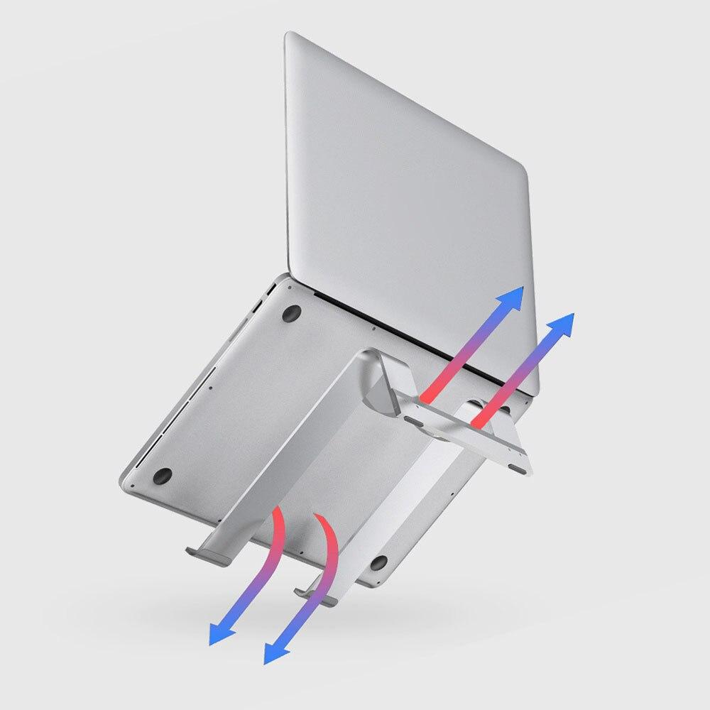 Xiaomi Mijia IQUNIX soporte para portátil en forma de L disipación de calor eficiente Soporte de aleación de aluminio de diseño Simple estable para el hogar inteligente
