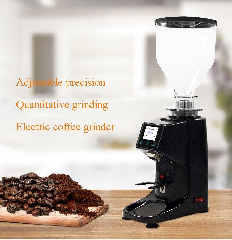 Molinillo cuantitativo de café eléctrico comercial molinillo de café expreso eléctrico con pantalla LCD molinillo de granos de café
