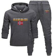 Survêtement pour hommes, chaussures de course, vêtements de sport deux pièces en laine épaisse, plus de 2020 pantalons, nouvelle mode sweat à capuche en coton
