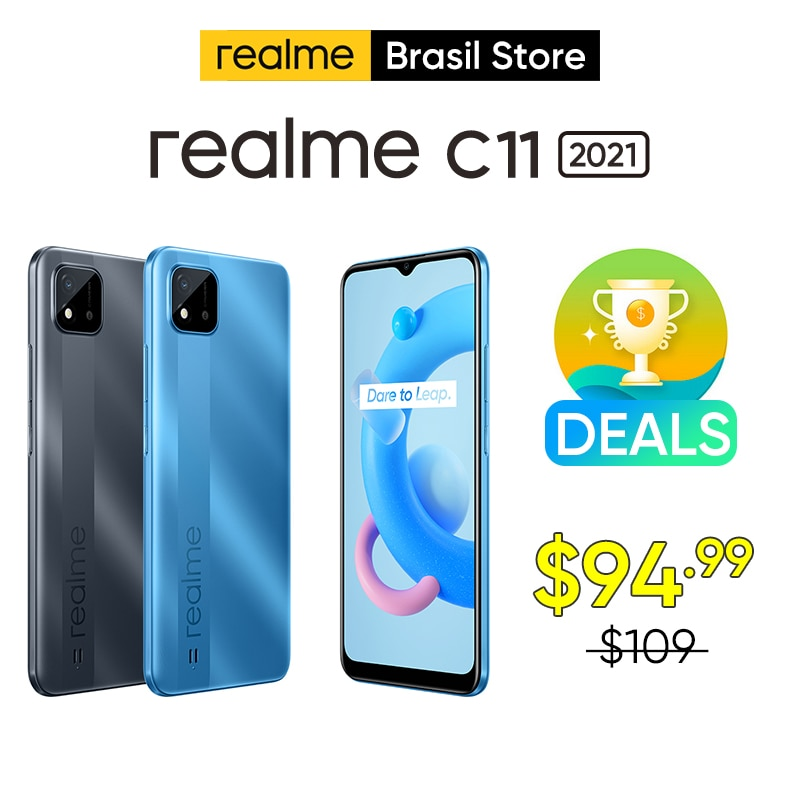 realme C11 2021 2GB 32GB Global Version Android 10 Mobile Phone 6.5