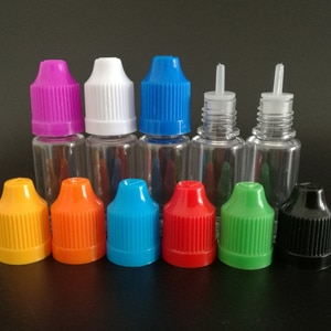 100pcs 10ml Empty PET Plastic Dropper Bottle Liquid Eye Clear Water Vial with Long Fine Tips and Childproof Caps