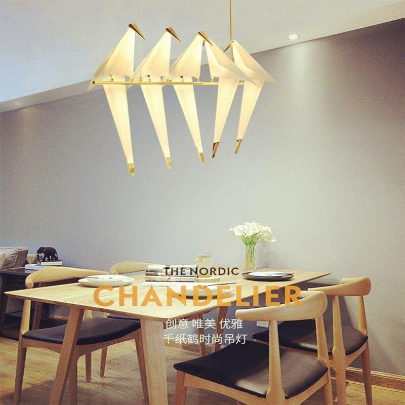 مصباح معلق LED على شكل طائر على الطراز الفني ، تصميم حديث ، إضاءة داخلية زخرفية ، مثالي لغرفة المعيشة أو غرفة النوم أو المطعم أو البار أو الفندق...