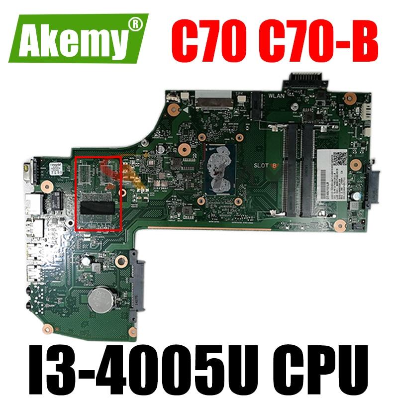 AR10SU-6050A2631701-MB-A01 V000358100 1310A2631711 اللوحة لابتوب toshiba satellite C70 C70-B L75-B lSR1EK I3-4005U