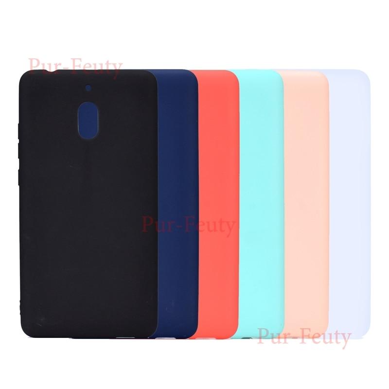 Para Nokia 2,1, 3,1, 5,1 6 6,1 silicona suave TPU Color caramelo moda lindo de la contraportada del teléfono para estuche Nokia 5,1 de 6,1 7 Plus