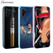 Cigarette Smokin esthétique Baseus bonbons couleur couverture pour Samsung Galaxy Note 10 9 8 S11 S10 S9 S8 S7 Plus bord coque de téléphone