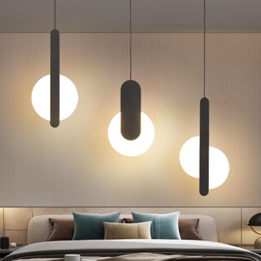 الحديثة قلادة LED ضوء السرير الدرج مقهى إضاءة داخلية الإنارة مصباح اكريليك الظل أسلوب بسيط شنقا مصباح