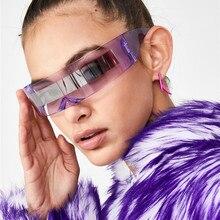 CRSD Womens Fashion Personality Glasses Riding Glasses Party Glasses Visor Wrap Shield Sunglasses Ri