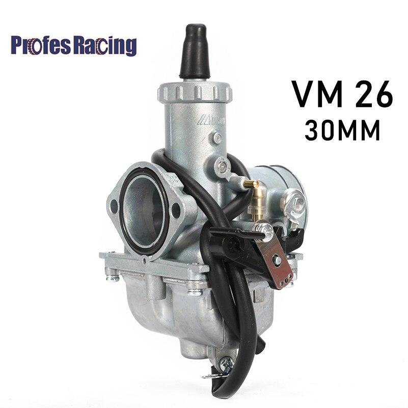 ProfesRacing ميكوني vm26 30 مللي متر ميكوني vm26 المكربن دراجة نارية المكربن VM26 كارب PZ30 30 مللي متر كارب ل 150cc 160cc 200cc 250cc