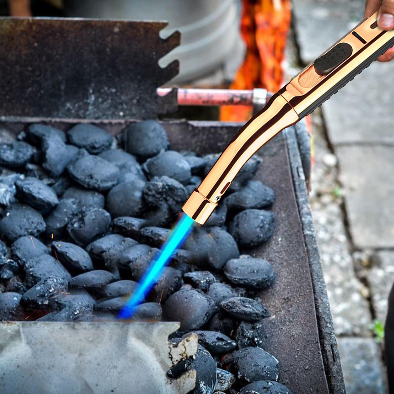 High Pressure Igniter Zinc Alloy Safe Portable Cigar Gas Lighter Torch Kitchen Accessories Supplies